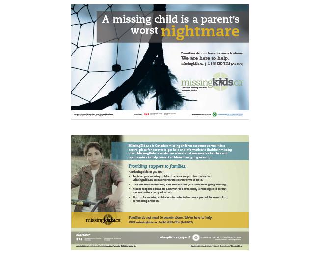 "MissingKids.ca ""Worst Nightmare"" Campaign Card"