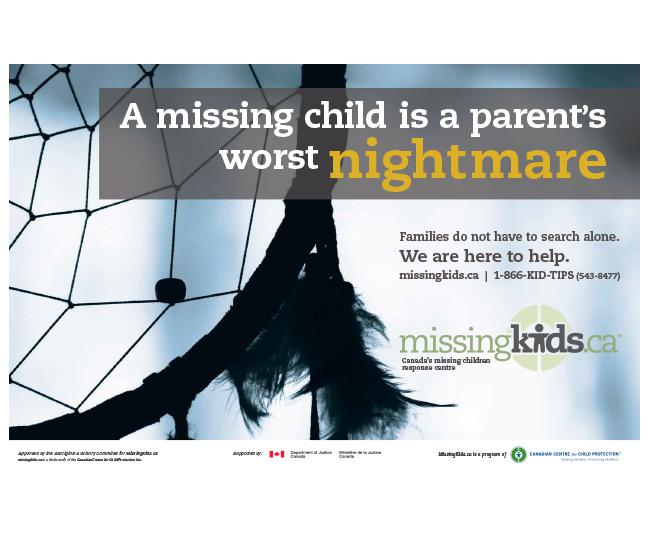 "MissingKids.ca ""Worst Nightmare"" Campaign Poster"