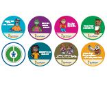 Image: 7 Root Safety Strategies - 8 sticker sheet